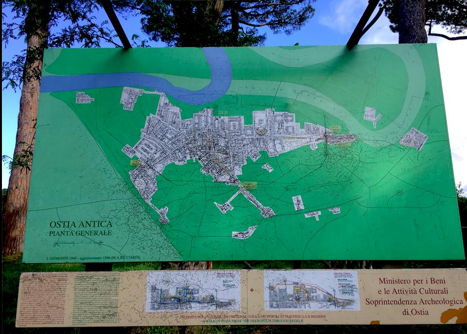 ostia antica mappa