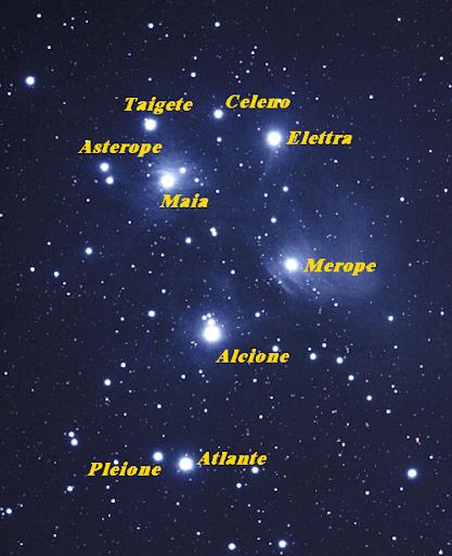 Le sette sorelle le Pleiadi